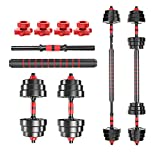 Y&J Adjustable Fitness Dumbbells Set Home Fitness Equipment for Men and Women Gym Work Out Exercise...