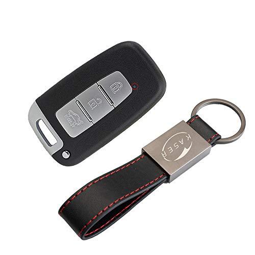 Schlüssel Gehäuse Fernbedienung für Hyundai Keyless - Autoschlüssel Funkschlüssel 3 Tasten für Smartkey Hyundai Sonata ix35 Genesis Kia Sportage Forte K2 K5 mit KASER Schlüsselring