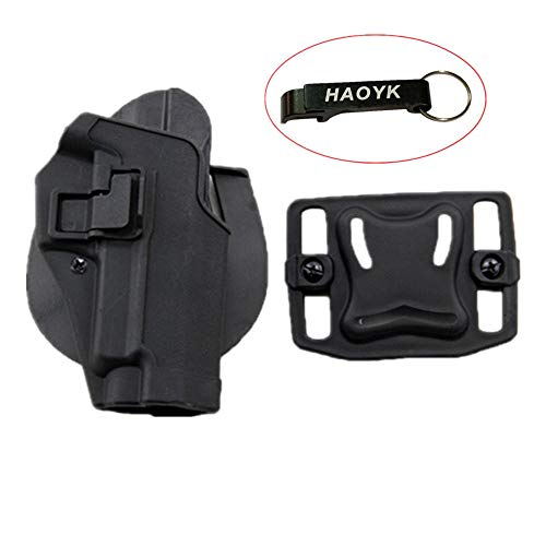haoYK Taktische Airsoft Pistole Concealment Ziehen Rechtshänder Paddle Gürtel Holster Tasche SIG SAUER P226 P228 P229 (Schwarz)