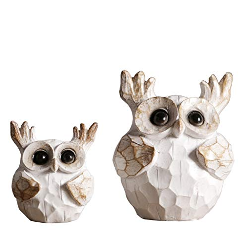 MSchunou Cute owl Tabletop Decoration, Simple, Stylish, a Beautiful Home Decoration, Simple and Generous Resin Made of Old owl Ornaments, Creative Home American Ornaments