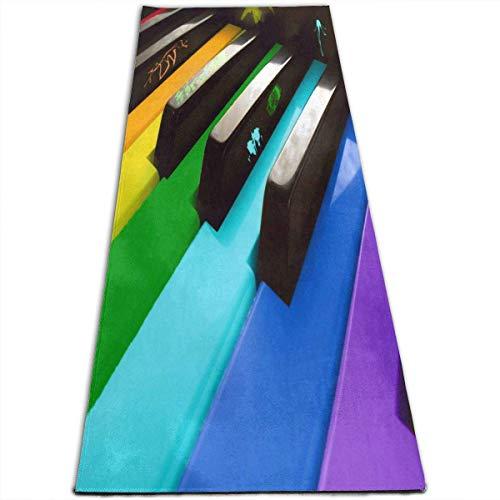 NA Muziek Piano Yoga Mat-All-Purpose Hoge Dichtheid Antislip Oefening Stijlvolle Yoga Matten voor Alle soorten Yoga, Pilates & Vloer Oefeningen (70