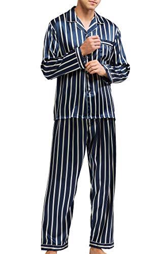 Nattkläder för män satin pyjamas set nattkläder myskläder