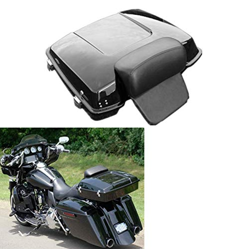 TCT-MT Razor Tour Pack Pak Trunk w/Pad Backrest Fit For Harley 1997-2013 Touring Road King FLHR Street Electra Glide Classic FLHTC FLHTCU FLHTK FLHTP FLHTCUSE8 FLHTCUSE7 FLHT Painted Black 2012 2011
