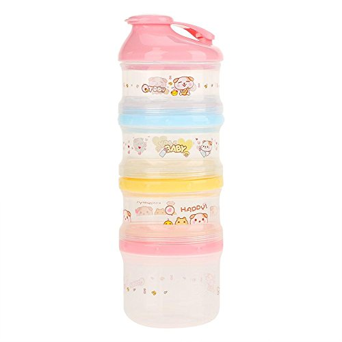 Purchase Formula Dispenser,4 Layers Compartment Baby Milk Powder Container Portable Snack BPA Free (...