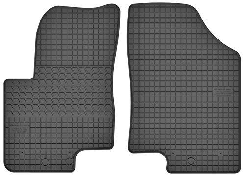 Motohobby Gummimatten Vorne Gummi Fußmatten Satz für Hyundai ix20 (2010-2018) / Kia Venga (2010-2018) - 2-teilig - Passgenau