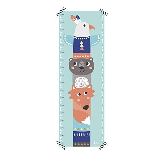 Julica Design Messlatte Kind | Totem in mint | Kindermesslatte zum Beschriften aus Papier