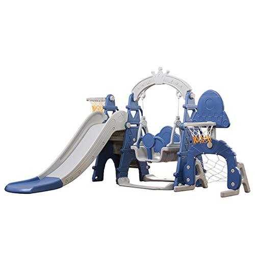 OMGPFR Scivolo per Bambini Altalena, con Cornice a Sfera Scivolo Indipendente Pieghevole Adatto ai Bambini Giocattoli per Bambini Facile Montaggio Ideale per Interno Regalo per Bambini