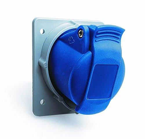 ABB 216RAM6 IP44 2P+E hoekstekker, thermoplast, blauw