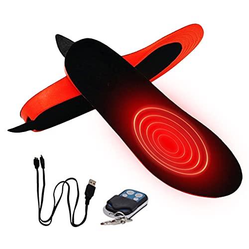 Beheizbare Einlegesohlen, USB Beheizte Einlegesohlen, Beheizter Fußwärmer Thermosohlen, Einstellbare Größe Wiederverwendbar Waschbares Pad Für Das Winterwandern