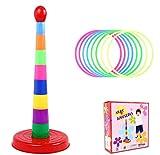 DOXMAL Kunststoff Wurfringe Set Intelligenz Entwicklung Bunte Pädagogisches Spielzeug Puzzle-Spiel für Kinder und Erwachsene Birthday Party Supplies