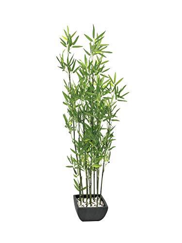 Euro Palms 82509261, Pianta di bambù in Vaso Decorativo, 120 cm, Verde (Grün)