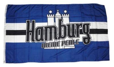 Fahne/Flagge Meine Perle Hamburg NEU 90 x 150 cm