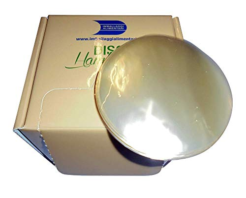 IMBALLAGGI 2000 discos para hamburguesas de 10 cm de diámetro, transparentes