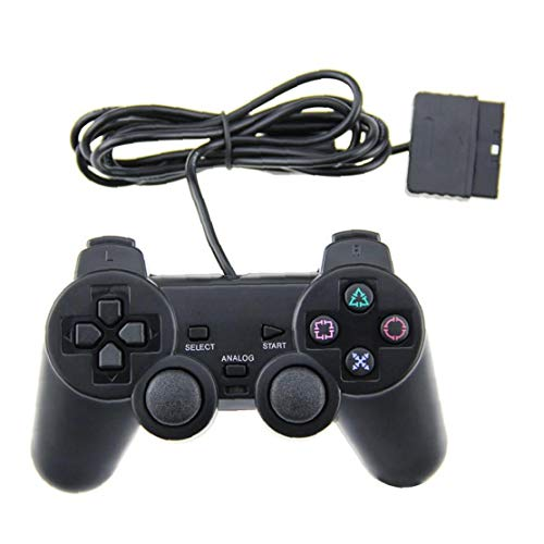 1 Packung PS2 Wired Controller Kompatibel Mit PS2 Playstation 2 - Schwarz