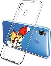 Oihxse Compatible con Samsung Galaxy A7 2018/A750 Silicona Funda Transparente Gel TPU Flexible Protectora Carcasa Dibujos Elefante Patrón Ultra Thin Estuche Cover Case(A2)
