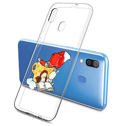 Oihxse Compatible con Samsung Galaxy J5 Prime/ON5 2016 Silicona Funda Transparente Gel TPU Flexible Protectora Carcasa Dibujos Elefante Patrón Ultra Thin Estuche Cover Case(A2)