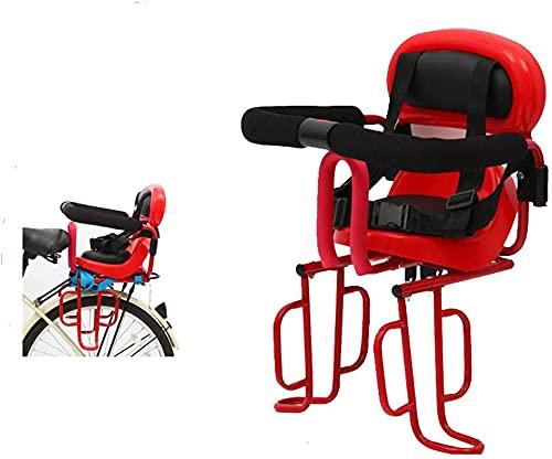 X&Y Asiento de Bicicleta de niño montado Trasero con pasamanos y Pedal para Bicicletas eléctricas para niños Asientos de Seguridad para niños Asiento Trasero Cojín de Silla de Montar (Color : Red)