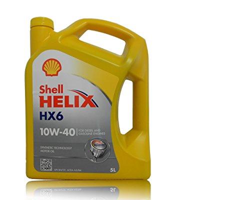 Shell Helix HX6 10W40 550040099 Olio Motore, 5 l