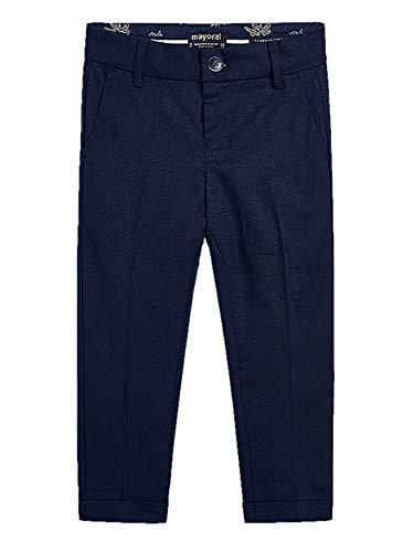 Mayoral 20-03528-043 - Leinen Hose Tailoring für Jungen 7 Jahre (122cm) Marinblau