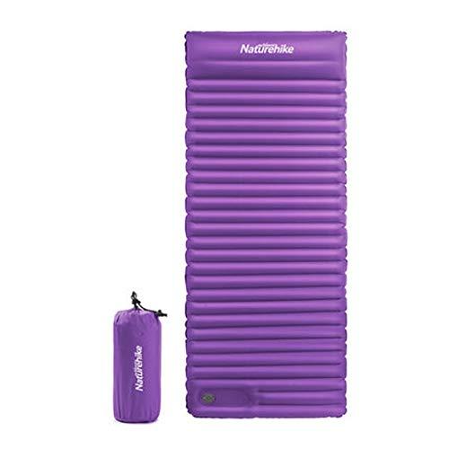 PRIDE S Luftmatratze im Freien Einzel Verbreiterte Sleeping Pad Tragbares verdickte Luftkissen Outdoor-Camping-Feuchtraum-Pad 7.5cm (Color : Purple, Size : W80cm)