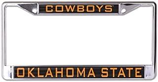WinCraft NCAA Oklahoma State University Cowboys 6 x 12 Inlaid Acrylic/Metal License Plate Frame