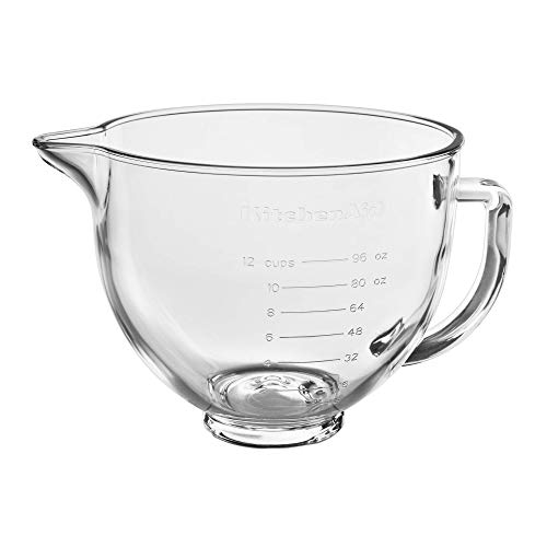 KitchenAid Stand Mixer Bowl, 5 quart, Glass with Measurement Markings