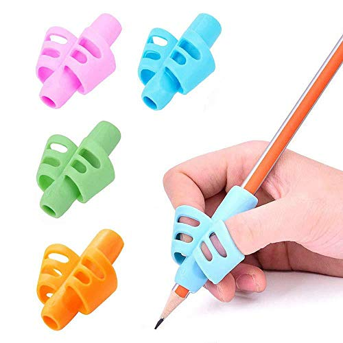 IUwnHceE Bleistift Grip Set für Junge Kinder Schreiben Correct Training 5 PackProfessional Ergonomische Fingerführung Bleistift Grip Set Haus-