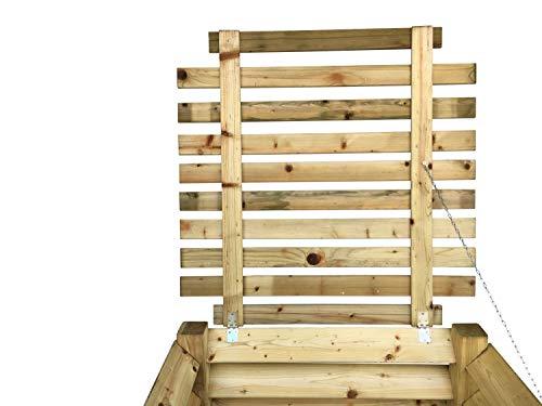 GartenDepot24 Stabiler Deckel für Holz-Komposter 100x100 cm