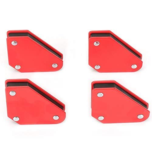 Esquina de imán magnético de 4 piezas, localizador de soldadura de ángulo de acero 9LB esquina de imán magnético, herramienta de soporte de soldadura para soldador de flechas