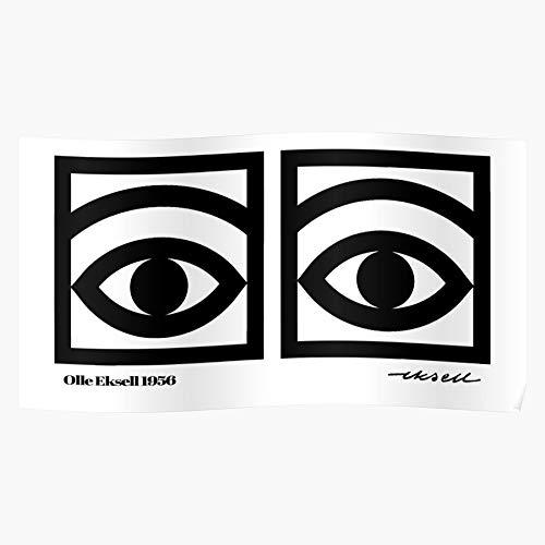 Eyes Artsy Cool Scandinavian Olle Art Eksell Eye Scandi Regalo para la decoración del hogar Wall Art Print Poster 11.7 x 16.5 inch
