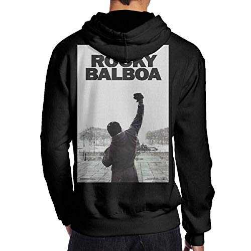 XCNGG RebeccaMBrown Black Rocky Balboa Sudaderas con Capucha Estampadas en 3D con Capucha para Hombre