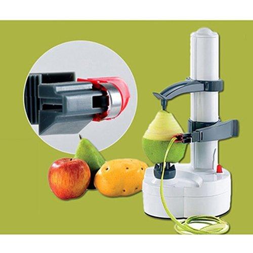 Gebuter Electric Automatic Peeler MultifunctionalFruit Orange PeelingMachinePeeler Automatic Potato Peeler Rotating Fruit and Vegetable Peeling Machine with Apple Paring Machine Kitchen Peeling Tool