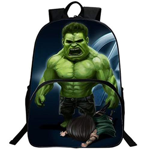 Hulk Rucksack Student Bag Avengers Cartoon Kinderrucksack-5