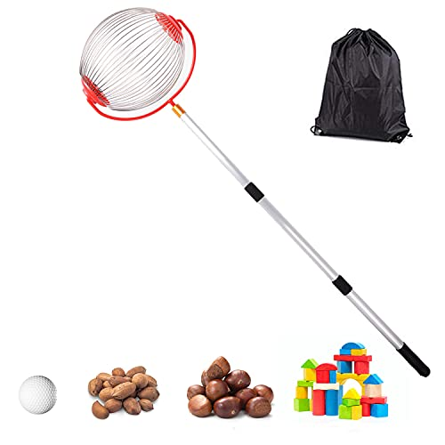 Medium Nut Gatherer Rolling Nut Harvester Ball Picker Adjustable Lightweight Outdoor Manual Tools Picker Collector Walnuts Pecans Golf Nerf Darts and Ball 1   to 3   in Size (7.48 9in)