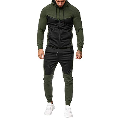 WuWangHai Trainingsanzug Harlem Sporthose,Herren Jogginganzug Sportanzug,Herren Jogging Anzug Trainingsanzug Sportanzug,Herren Jogging Anzug ohne Kapuze Trainingsanzug