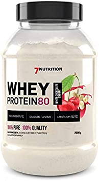 7Nutrition Whey Protein 80 Paquete de 1 Polvo de proteína de suero Construcción de proteínas en polvo Polvo Concentrado de proteína de suero (White ...