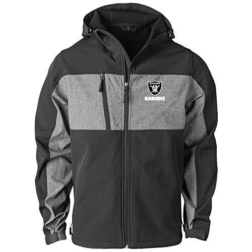 Dunbrooke Apparel NFL Oakland Raiders Zephyr Softshelljacke für Herren, Schwarz/Grau, Größe 4XL