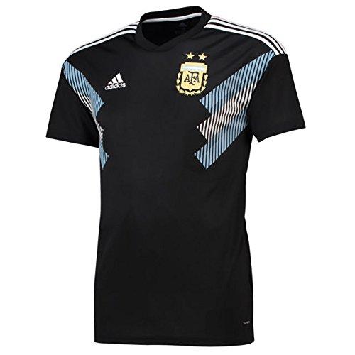adidas Argentina Away Replica Jersey Camiseta Cuello Redondo Manga Corta Poliéster - Camisas y Camisetas (Camiseta, Adulto, Masculino, Negro, Azul, Blanco, Estampado, S)