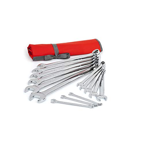 Crescent 14 Pc. 12 Point SAE Combination Wrench Set with Tool Roll - CCWS4