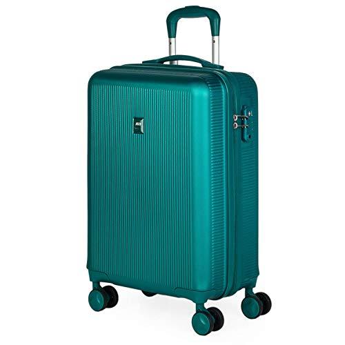 JASLEN - Maleta Cabina Avion Pequeña 4 Ruedas 55x40x20 Hombre Mujer. Viaje Rígida. Trolley Equipaje de Mano. Candado con Combinación (Cerradura aprobada por la TSA) 171050, Color Turquesa