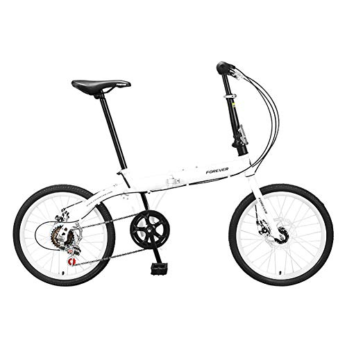 Marky Faltrad 20Inch Stahl Bremse 6-Gang Urban Commuter Fahrrad für Shift Freizeit