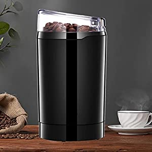 Molinillo de Café Eléctrico, 220W Molinillos Molinos de Semillas Especias Granos Azúcar, Potencia Alta, Capacidad 75g, Duradero Acero 304 Inoxidable, Libre de BPA