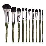 Principiante 10 De Cepillo Del Maquillaje Del Maquillaje De Las PC De Nylon Facial Belleza Herramienta Blush Loose Powder Eye Brush,4