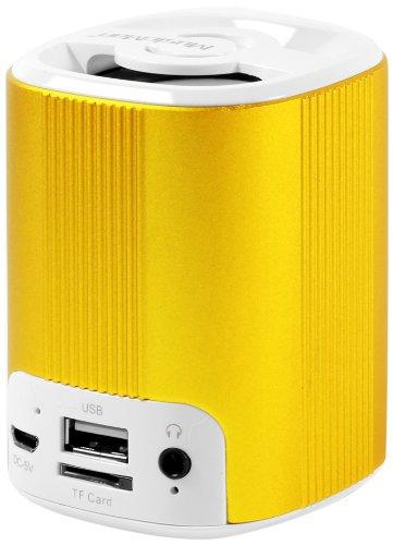MusicMan 4242 BT-X4 Grenade Bluetooth Soundstation Lautsprecher (microSD-Kartenslot, 3,5mm Buchse, 3 Watt, USB) Gold