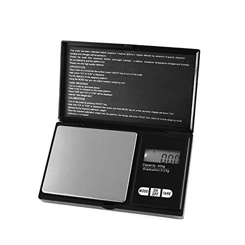 IWILCS - Báscula Digital de Bolsillo 0,01 g x 500 g, Escala