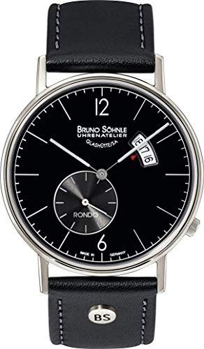 Bruno Söhnle Herren Analog Quarz Uhr mit Echtes Leder Armband 17-13053-761