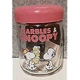 1982年 日本製 MARBLES & SNOOPY マーブルス & スヌーピー ガラス キャニスター 瓶