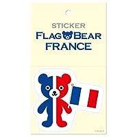 ムーングラフィックス ステッカー 国旗 クマ フランス L FBL14