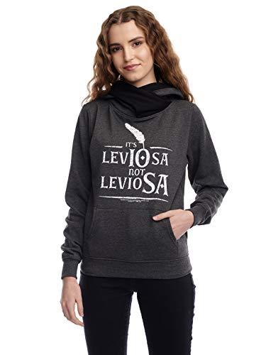 Harry Potter Leviosa - Felpa con collo sciallato da donna multicolore S