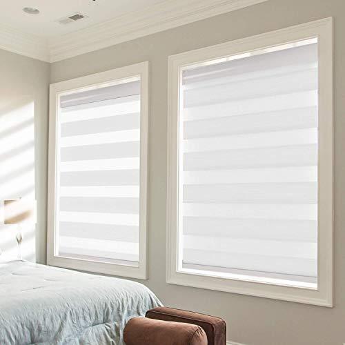 Persianas, persianas de doble capa, persianas enrollables transparentes o con control de luz de privacidad, ventana diurna y nocturna para la sala de estar del dormitorio, corte personalizad